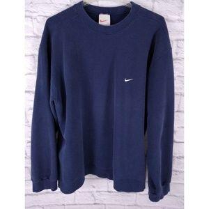 Vintage 90's Nike Swoosh Baggy Sweatshirt Navy XL